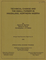 Technical change and the small farmer in Hausaland, Northern Nigeria