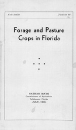 Forage and pasture crops in Florida
