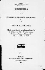 Memoria de la Junta Directiva de la compaña del Ferro-Carril de Sagua la Grande