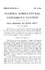 Fall dropping of citrus fruit