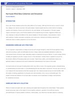 Hurricane Wind Data Collection and Simulation