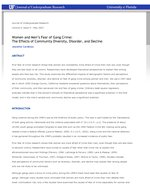Women and Men's Fear of Gang Crime: The Effects of Community Diversity, Disorder, and Decline