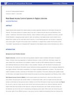 Role-Based Access Control Systems In Digital Libraries
