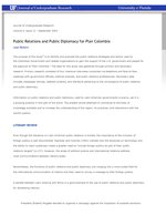 Public Relations and Public Diplomacy for Plan Colombia