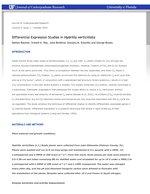 Differential Expression Studies in Hydrilla verticillata