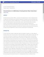 Characterization of a MEMS Optical Floating-element Shear Stress Sensor