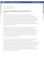 Macroeconomics, Neoliberal Policies and Livelihoods in Peru