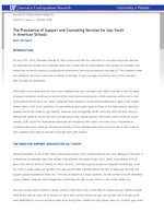 The Prevalence of Support and Counseling Services for Gay Youth