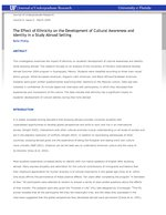 The Effect of Ethnicity on the Development of Cultural Awareness and Identity in a Study Abroad Setting