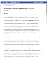 Neutron Diffusion Solutions for Homeland Security Applications
