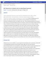 Pain Sensitivity in Patients with Irritable Bowel Syndrome