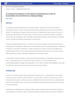 A Comparative Analysis of the Capital and Maintenance Costs of Sustainable and Conventional Landscape Design