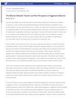 The Relation Between Teacher and Peer Perceptions of Aggressive Behavior