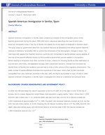 Spanish-American Immigration in Seville, Spain