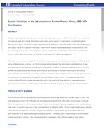Spatial Variations in the Urbanization of Former French Africa, 1885-2004