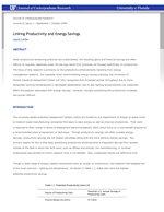Linking Productivity and Energy Savings