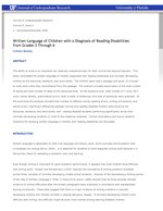 Written Language of Children with a Diagnosis of Reading Disabilities from Grades 3 Through 6
