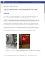 Street as Temple, Commerce as Ritual: the Street Shrines of Hong Kong