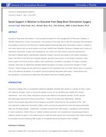 Social Support in Relation to Outcome from Deep Brain Stimulation Surgery
