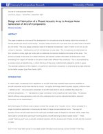 Design and Fabrication of a Phased Acoustic Array to Analyze Noise Generation of Aircraft Components