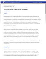 Purification Methods of MARCKS from Bovine Brain