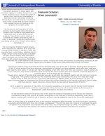 Featured Scholar: Brian Lorenzetti