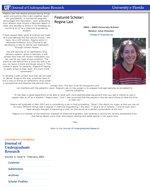 Featured Scholar: Regina Last