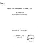 A list of publications related to soil survey work in Florida