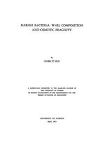 Marine bacteria: wall composition and osmotic fragility