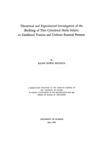 Theoretical and experimental investigation of the buckling of thin cylindrical shells subject to combined torsion and uniform external pressure.