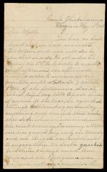 Maxwell, David E. to his Mother, May 11, 1862- Chickahominy, Va. (1 sheet, 4 leaves)