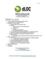 Français: dLOC Réunion du conseil d'administration, Ordre de Jour et Mises