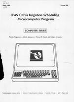 IFAS citrus irrigation scheduling microcomputer program