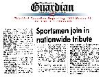 Sportsmen join in nationwide tribute