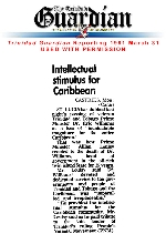 Intellectual stimulus for Caribbean