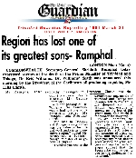 Region has lost one of its greatest sons - Ramphal