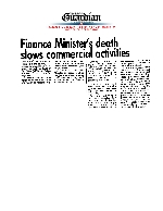 Finance Minister's death slows commercial activities