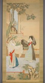 Folk Dancers Dressed as Buddhist Nuns
