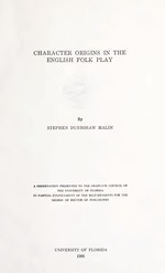 Character origins in the English folk play