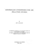 Controlled atmospheres for air pollution studies