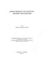 Joseph Priestley on language, oratory, and criticism