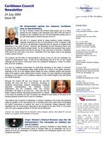Caribbean Council newsletter