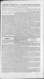 Gazette nationale, ou, Le moniteur universel