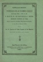 Oración pronunciada en las solemnes exequias
