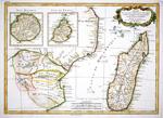 Partie De La Cote Orientale D'Afriqie avec L'isle de Madagascar et les Cartes particulieres des Isles de France et de Bourbon