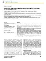 Nurse Staffing and Patient Outcomes in the Rehabilitation Setting