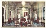 Republica de Cuba. Salon Marti. Capitolio Nacional.Habana, Cuba. Marti Hall. National Capitol Bldng. Havana, Cuba. Lit. Omega – Tte. Rey – 13. Habana. (Verso).