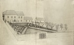 [Artist's rendering for the layout of the Hispanic Garden from the corner of St. George Street and Hypolita Street]