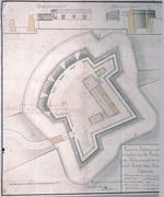 Plano de un Reducto que se propone construiren la Isla Amelia