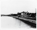 The sea wall and bay front seen from the Castillo de San Marcos, looking South, 1929